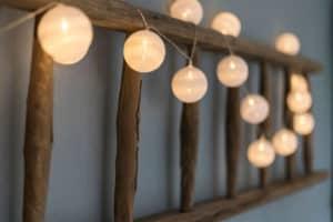 verlichting trap decoratie blauw sfeer styling vintage