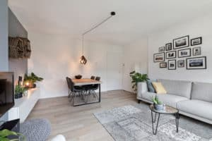 woonkamer, wit, grijs, modern, lijstjes