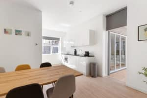 keuken, tafel, appartement